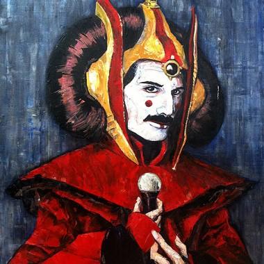 Freddie Mercury as Queen Amidala.