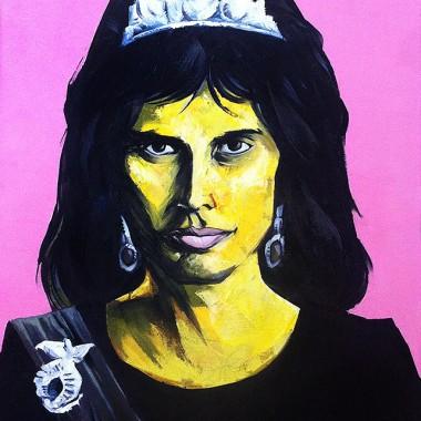 Freddie Mercury as Queen Beatrix.