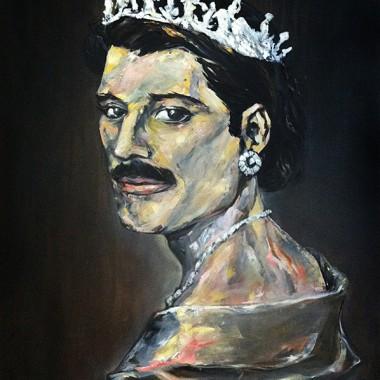 Freddie Mercury as Queen Elizabeth II.