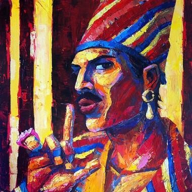 Freddie Mercury as Queen Latifah.