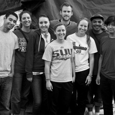 The students at Tent City 3. (Credit: Rex Hohlbein)