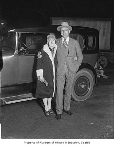 Roy Olmstead and his wife, Elise, in 1925. (Courtesy: MOHAI)