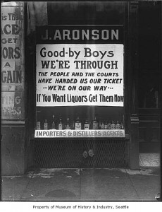 J. Aronson Liquor sign ca. 1916. (Courtesy: MOHAI)