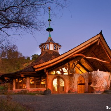 The Harbin Hot Springs Temple is the builder's favorite. (Courtesy of SunRay Kelley)