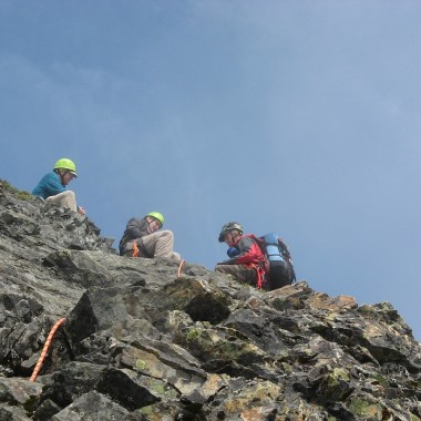 Bruce Stobie, center, is seen climbing McClellan Butte.  (Courtesy: Bruce Stobie)
