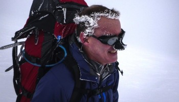Bruce Stobie is seen on a recent climb to Camp Muir on Mount Rainier. (Courtesy  Dave Marcy)