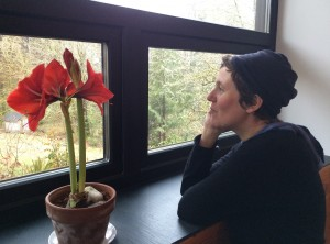 Nikki McClure is seen at home in Olympia, Washington. (Bellamy Pailthorp/KPLU)