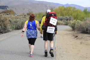 Gwyn and Bruce Stobie are seen participating in a recent half-marathon. (Tim Chandonnet Photography)
