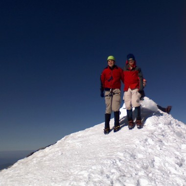 Bruce Stobie, left, is seen on Mount Adams. (Courtesy: Bruce Stobie)