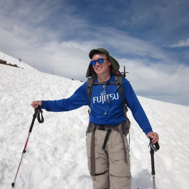 Bruce Stobie is seen at Camp Muir on Mount Rainier in 2011. (Courtesy: Bruce Stobie)